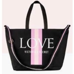 🆕 Victoria Secret • LOVE Canvas Tote